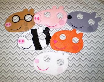 Peppa Pig  Felt  Mask -    Party Favor, Pretend Play