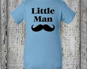 Little Man Mustache Creeper~Baby Boy Bodysuit~Favorite Boy~Gender Reveal~Newborn Baby~Mommy's Boy~Daddy's Boy~Baby Shower Gift~New Dad