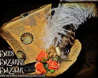Steampunk Fascinator  - Cosplay - Burlesque - Top Hat