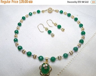 SALE Jade Isle Necklace and Earring Set