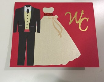 50 GROOM and BRIDE WEDDING Invitations any Color