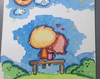 My lucky star A6 original illustration