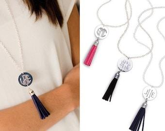 Monogrammed Tassel Necklace