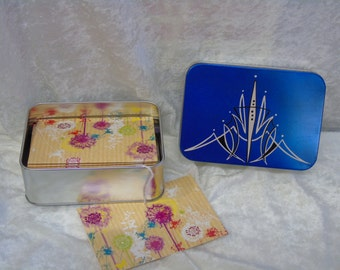Custom painted Notelets Tin and stationary