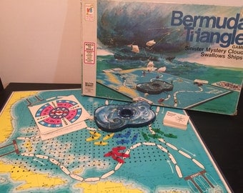 Bermuda Triangle by Milton Bradley, 1976 - Vintage 1970s Vanishing Ship Board Game - Complete