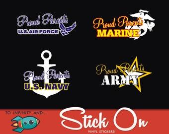 Pround Military Parent, Air Force Parent, Marine Parent, Navy Parent, Army Parent