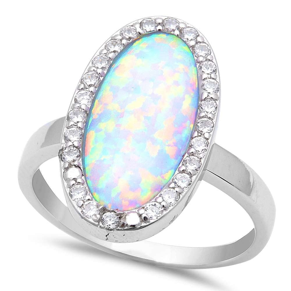 wedding engagement cocktail ring solitaire white opal