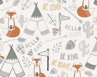 Brave Fox Organic Fabric - By The Yard - Boy / Girl / Gender Neutral