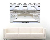 Wall Decal, Wall Decor, Paris, Rue Cambon, Coco Chanel, Chanel, Repositionable, Wall Art, Large Wall Art, Peel and Stick, Dorm