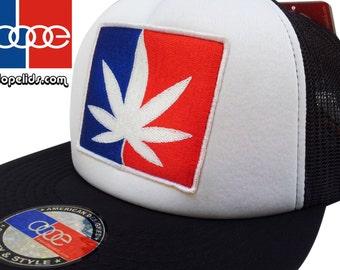 Vintage Style Mesh Trucker Cap Hat Major League Weed Patch Rasta Pot Hip Hop