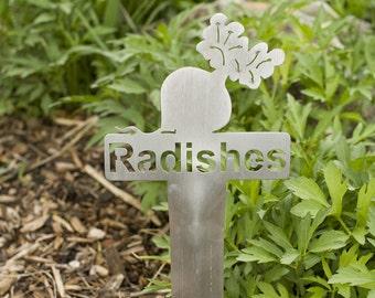Radishes Garden Marker (Stainless Steel)