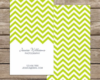 Chevron Business Card / Mommy Card / Calling Card - PREMADE Business Card Design - Customization & Printing Available - FREE SHIPPING