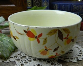 Vintage Hall Jewel Tea Autumn Leaf Small Mixing Bowl