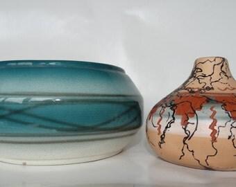 Small Navajo Pot and Larger Pot