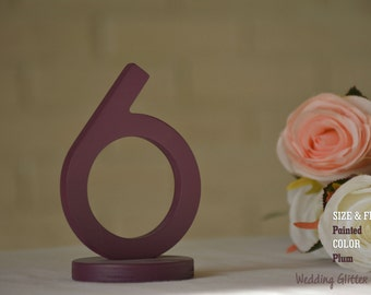 Painted SET 1-40, Table Number, Wedding Reception Table, 10 table numbers