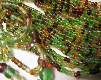 Czech Glass Hanks, Mix Colors, Mix Earthtones, Size 11, Bead Stringing, Bead Embroidery, Jewelry Making