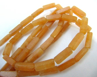 Gemstone Beads, Carnelian Agate Beads, Rectangle Beads, 10x4 MM, 30 Beads, Wire Wrapping, String Beading, Value Beads