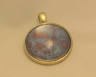 one of a kind - purple & blue pendant