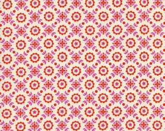 Cotton and Steel Lucky Strikes Collection Coffee Shop Red Yardage 0.5m