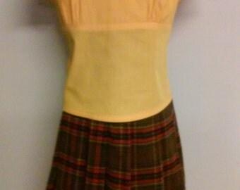 Girls Plaid skirt and matching top