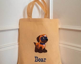 Personalized Paw Patrol Tote/ Bag -Choose Your Pup
