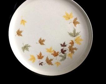 Vintage Franciscan Indian Summer Dinner Plate-Dinner Plate-Indian Summer Indian Pattern-1950s-Made in USA-Leaf Design-Retro Dinnerware