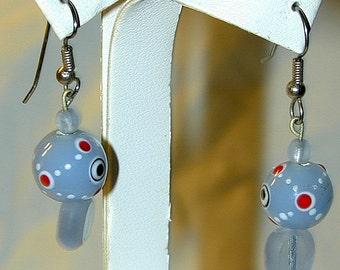 OOAK Earrings Blue Art Glass