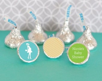 Chocolate Kiss Favors-Stickers for Candy Kisses-Personalized Hershey Kiss Favor Labels (set of 108) Party Favor Ideas