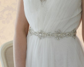 Crystal Bridal Sash-BridalSash-Wedding Dress Belt -Crystal Belt-Dress Sash