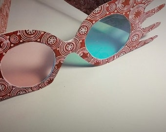 Luna Lovegood Glasses inspired from Harry Potter, with earrings and wand
