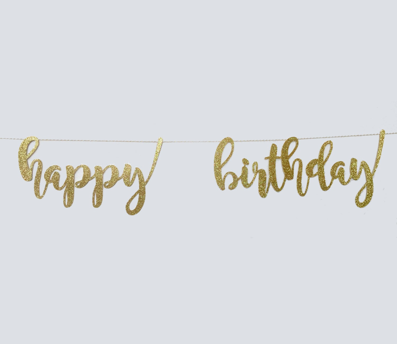 happy birthday banner all lowercase letters garland string