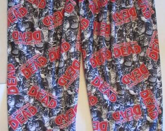Walking Dead pajamas/walking dead flannel/walking dead bottoms/his and hers walking dead/mens walking dead flannel pajamas/women pajamas