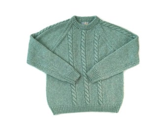 Vintage Pastel Mint Pullover Knit Sweater