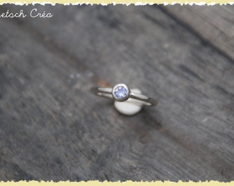 Ring silver and Moonstone