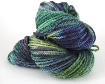 Hand-Painted Bulky 100% Superwash Merino Wool Yarn - Dewey Rainforest Moss