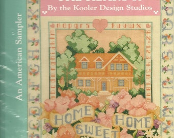 "Kooler Design:  ""  Home Is Where The Heart Is"" Cross Stitch Book"
