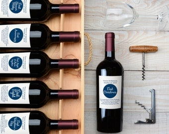 Marriage Milestone Wine Labels- Set of 6 Fun / Witty