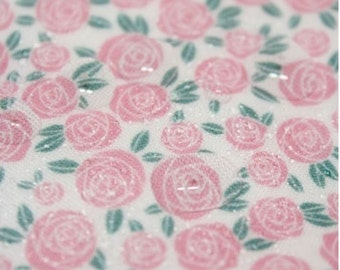 Laminated Cotton Fabric Rose By The Yard