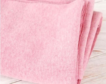 2:1 Ribbing Knit Fabric Pink Heather By The Yard