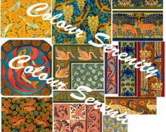 Vintage Animal Patterns 1 Clipart Instant Download 14 images
