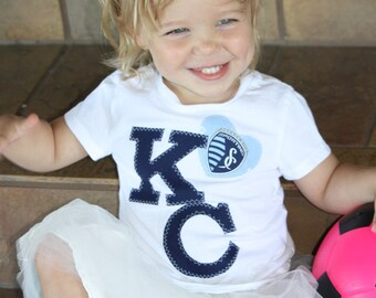 KC Pride with Sporting Fabric heart toddler shirt