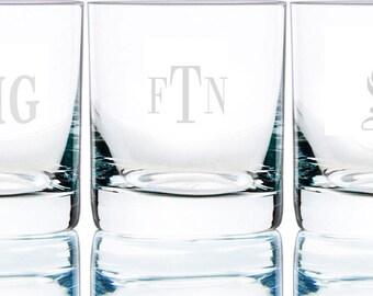 Personalized Bar Rocks Groomsmen Bourbon Whiskey Rum Glasses (per piece), 8.5 oz.