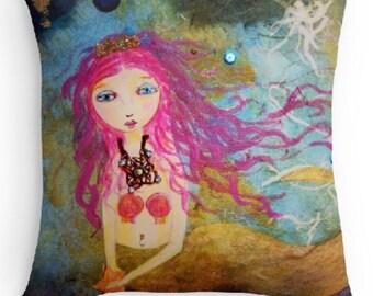 Little Mermaid Pillow 16x16
