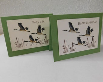 Flock of Canadian Geese Flying Card