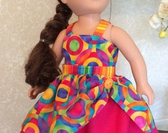 """18"""" doll outfit with a reversible top"""