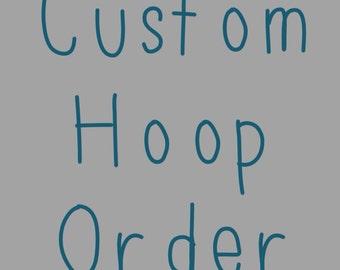 Custom wall art embroidery hoop -personalised swear hoop - gallery wall art - dorm room decor - MADE TO ORDER