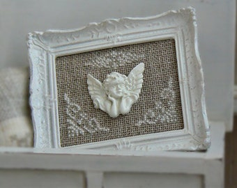 """Frame """"Angel"""". Accessory decoration for doll scale 1/12th house."""