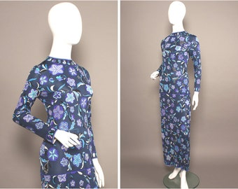 PUCCI 60s Purples PSYCHEDELIC Flowers Maxi Dress UK 8