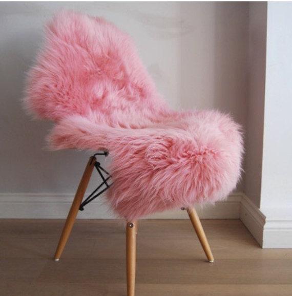 Pink British Sheepskin Rug Beautiful Baby Pink Powder Pink