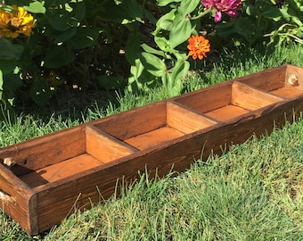 Farmhouse tray/Trough/Table centerpiece/Wood planter/Table trough/Planter